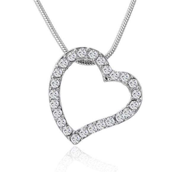 c6b1408a3ea23 Swarovski heart necklace